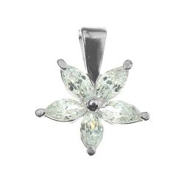 Zawieszka Kwiatek z kamieniami srebro 925 W 214