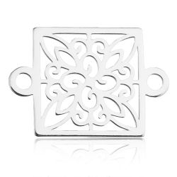 Łącznik ażurowy kwadrat, srebro 925 BL 753
