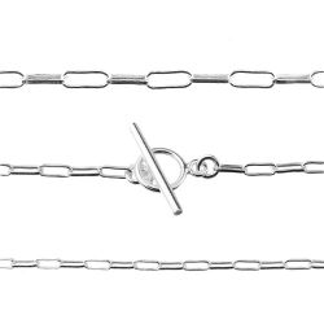 Łańcuch srebrny z zapięciem typu toggle, próba 925 R040 50 cm