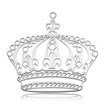 Duża zawieszka - Ażurowa Korona, srebro próba 925 BIG BL 5