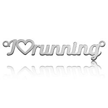 Zawieszka/łącznik I love running, srebro 925 BL 394