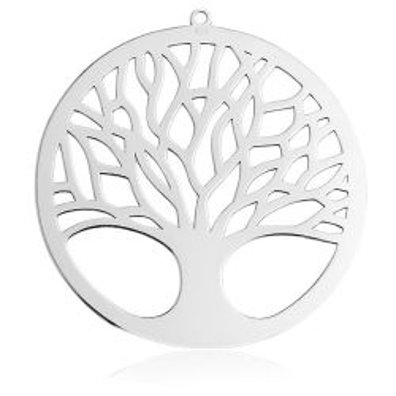 Duża Zawieszka / element do kolczyków Koło Drzewo, srebro 925 BL 607
