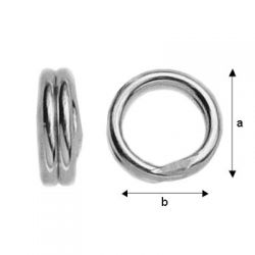 Podwójne ogniwa srebro próba 925 OG 4,0