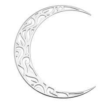 Duża zawieszka - ażurowy księżyc, srebro próba 925 BIG BL 8