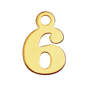 Zawieszka Cyfra Sześć 6, złoto próby 585