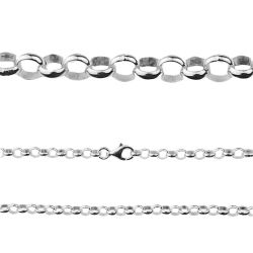 Łańcuch rolo srebro próby 925 R006 - 50 CM