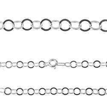 Łańcuch rolo srebro próby 925 R112 - 50 CM