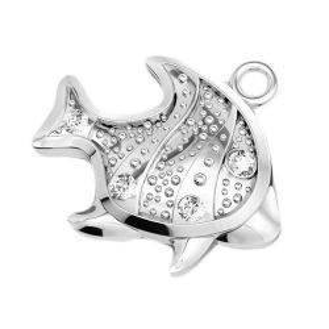 Charms rybka z kamieniami Swarovski srebro 925 H-97